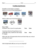 Traveling Long Distances Worksheets Daily Living Skills (Differentiated)