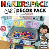 Traveling MakerSpace Cart Decor