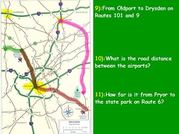 Traveling Math - Adding Miles on a Map; Real World Math (S
