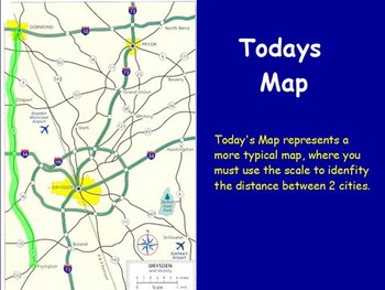 Traveling Math - Converting a map Scale; Real World Math (POWERPOINT)