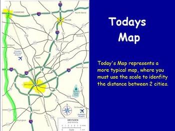 Traveling Math - Converting a map Scale; Real World Math (SMART BOARD)