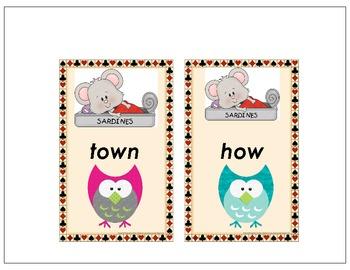 Sorting Vowel Diphthongs - OU, or OW