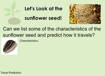 Traveling Seeds Smartboard Lesson and Activity