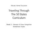 Traveling Through The 50 States Week 3 Worksheet Packet
