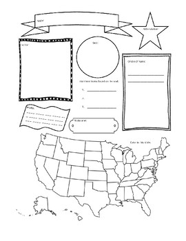 Traveling Through The 50 States Week 6 Worksheet Packet