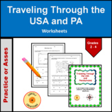 Traveling Through the U.S.A and Pennsylvania Using Intermediate Directions