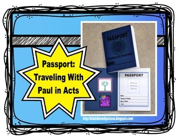Traveling With the Apostle Paul in the Book of Acts Passport Freebie