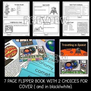 Traveling in Space Flipper Book
