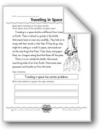 Traveling in Space (Topic Sentences/Details)