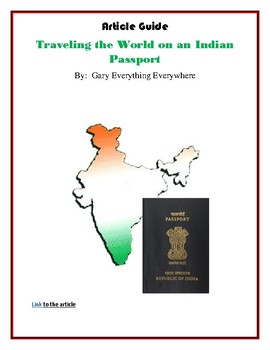 Traveling the World with an Indian Passport - Reading Analysis