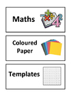 Tray Labels for Mathematics Resources {EDITABLE}