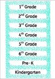 Tray labels (Admin) - Aqua spotty dotty - Gratnells - Avery E3214