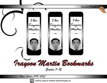 Trayvon Martin Bookmark Freebie
