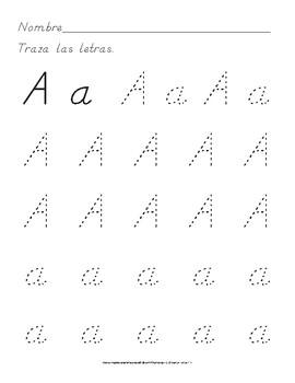 Traza Letras Ejercicios Para Practicar Letra Dnealian