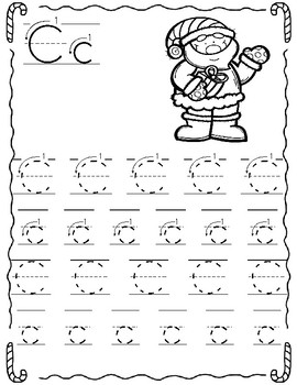 Traza el Alfabeto Navideno/ Christmas Alphabet (trace)  in Spanish