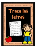 Trace the alphabet Spanish -Traza las letras del abecedario