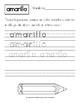 Traza los Nombres de los Colores: Ejercicios de Letra Manuscrita