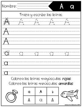 Traza y Escribe Las Letras