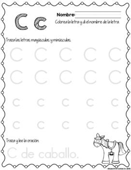 Traza y aprende el alfabeto