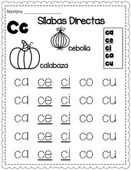 Trazando Silabas Directas