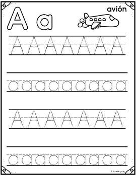 Trazando el abecedario