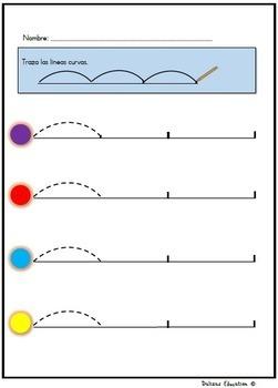 Trazar líneas | ejercicios de escritura