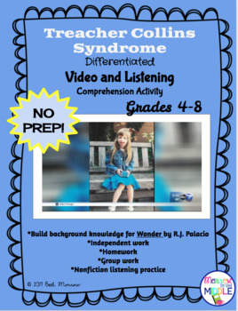 Treacher Collins Syndrome/WONDER Background NO PREP Video Comprehension