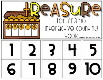 Treasure 10 Frame Counting Interactive Book