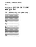 Treasure 1st Grade Spelling Practice Sheet Unit 1 Week 3