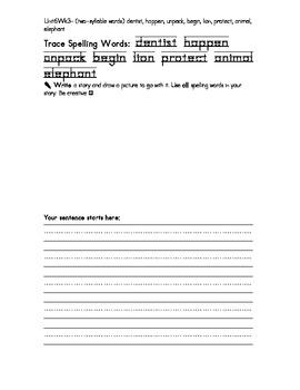 Treasure 1st Grade Spelling Practice Sheet Unit 6 Week 3