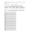 Treasure 1st Grade Spelling Practice Unit 3 Week 3