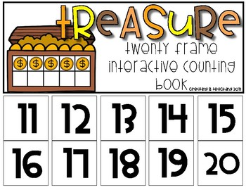 Treasure 20 Frame Counting Interactive Book