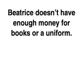 """Treasure- 3rd Grade: """"Beatrice's Goat"""" Cause and Effect Signs"""