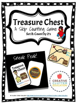 Treasure Chest: A Skip Counting Game (Set B: Count by 2's)