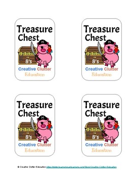 Treasure Chest: A Skip Counting Game (Set H: Count by 8's)