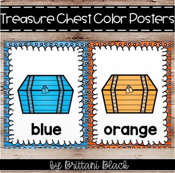 Treasure Chest Color Posters
