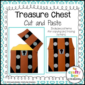 Treasure Chest Cut and Paste