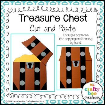 Treasure Chest Cut and Paste