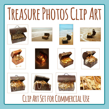 Treasure Chest / Pirate Treasure Photos Clip Art Set for Commercial Use