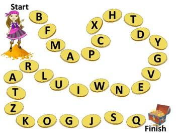 Treasure Chest Preschool Capital Letter Printable Game