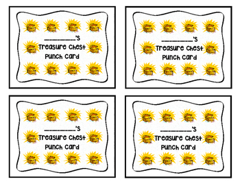 Treasure Chest Punch Cards