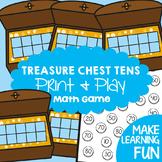 Ten Frame Game - Treasure Chest Tens - Making Tens Math Center