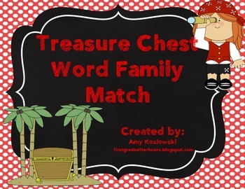Treasure Chest Word Family Match