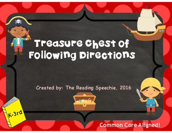 Treasure Chest of Following Directions *Pirate Themed*