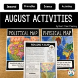 August NO PrepActivities Bundle: Back to School, Ladybugs, Volcanoes, Map Skills