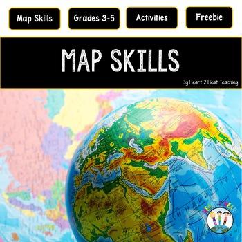 Treasure Each Month August: Map Skills FREEBIE!