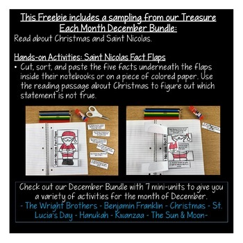 Treasure Each Month December: Who was Saint Nicolas? A Christmas Freebie!