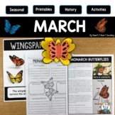 Treasure Each Month March Activities: Plant Life Cycle, Cl