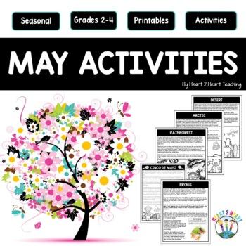May NO Prep Activities: Cinco de Mayo, Mexico, Frogs & Habitats