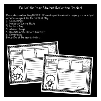 Treasure Each Month May: End of the Year Student Reflection FREEBIE!